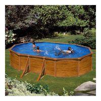 piscina gre sicilia kitprov503w aspecto madera ovalada 500x300x120 cm