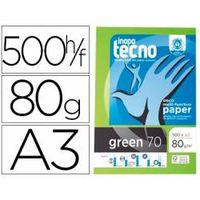papel multifuncion din a3 tecno green 80 gm2 100 reciclado 500 hojas