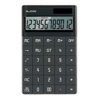 nusign ns041 calculadora de escritorio pantalla grande lcd calculadora de 12 digitos solarbateria dual powered for busi
