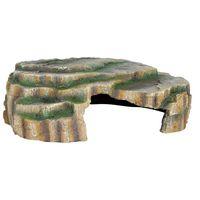 trixie cueva para reptiles 30x10x25 cm resina de poliester 76212