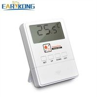 new earykong temperature detector 433mhz wireless with lcd screen 1527 chips real-time display for home burglar alarm system