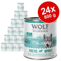 pack ahorro wolf of wilderness 24 x 800 g - savanna con pavo vacuno y cabra