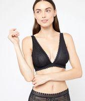 sujetador triangular sin espumas copa b-d - panama - 95b - negro - mujer - etam