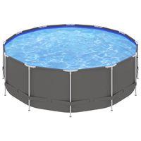 vidaxl piscina con estructura de acero antracita 457x122 cm