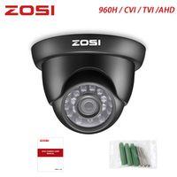 zosi 720p 1080p 4in1 ahd tvi cvi cvbs video surveillance dome camera hd 1280 tvl weatherproof home cctv security camera system
