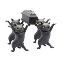 carrying coffin cat pen holder home bookshelf decoration animal statue handmade home decor toy gift