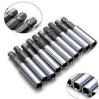 10pcs 14 hex shank magnetic extension extend socket 60mm screwdriver drill bit extender bar rod