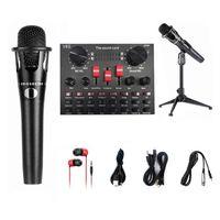 v8s live sound card microphone set 8 modos grabacion de audio equipos de transmision en vivo