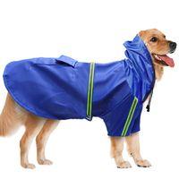 pu ropa para mascotas tira reflectante perro impermeable impermeable impermeable con capucha para caza perro