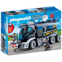 playmobil city action swat truck with working lights and sound 9360