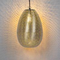 lampara colgante oriental acero - sinbad 1
