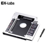 en-labs 25 inches sata 2nd hddssd hard drive sata to sata caddy tray for 127mm laptop universal cddvd-rom optical bay slot