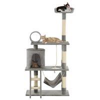 vidaxl rascador para gatos con poste de sisal 140 cm gris