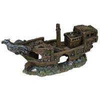 trixie naufragio decorativo de acuario resina de poliester 8743