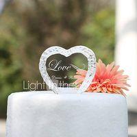 decoracion de pasteles personalizado pareja clasica  corazones cristal matrimonio  despedida de soltera  aniversario tema jardincaja