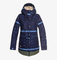 riji - chaqueta parka para nieve para mujer - azul - dc shoes