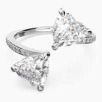 anillo attract soul heart blanco bano de rodio