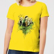 the lord of the rings hobbits womens t-shirt - yellow - xs - amarillo