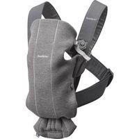 babybjorn  portabebes mini gris oscuro 3d algodon jersey - grrecien nacido 0-6 meses