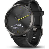 garmin vivomove hr sport hybrid smartwatch - black large black