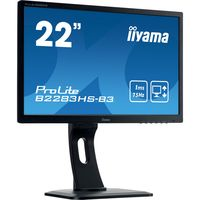 prolite b2283hs-b3 led display 546 cm 215 1920 x 1080 pixeles full hd plana mate negro monitor led