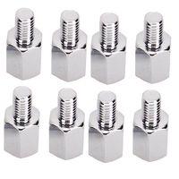 8pcs tornillos adaptadores del espejo retrovisor de 10 mm a 8 mm