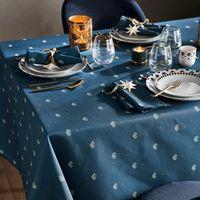 mantel estampado eventail bleu