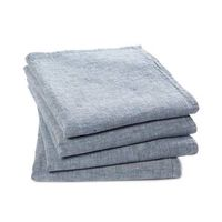 lote de 4 servilletas de lino lavado victorine