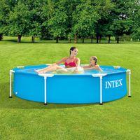 intex piscina metal frame 244x51 cm