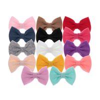 cute 32 10pcslot felt hair bows for diy baby girls headwear soft hair bows for handmade hairpins clips hair accessories