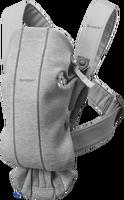 babybjorn mochila porta bebe mini gris claro 3d jersey