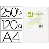papel fotocopiadora q-connect ultra white din a4 120 gr