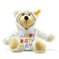 steiff  charly happy birthday oso delgado teddy con capucha 23 cm