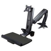 startechcom brazo de soporte de pie y sentado ajustable vesa para monitores de hasta 24 pulgadas con soporte