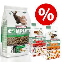 pack mixto cuni adult complete pienso  2x snacks - 175 kg  2 x 50 g snacks