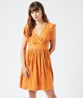 robe cache-coeur a nouer - abana - 34 - amarillo - mujer - etam
