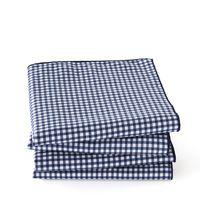 lote de 4 servilletas de cuadros de algodon lavado notem