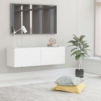 vidaxl mueble para tv de aglomerado blanco 100x30x30 cm