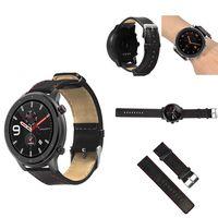 reloj bakeey piel genuina correa de repuesto banda para reloj inteligente amazfit gtr 47mm