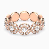 anillo angelic blanco bano en tono oro rosa