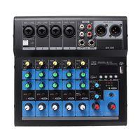 profesional 6 canales estereo usb live mixing studio audio mezclador de sonido consola
