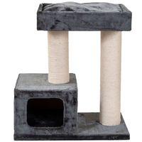 quapas arbol rascador para gatos bandit gris oscuro 76x45x82 cm