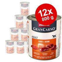 animonda grancarno original adult 12 x 800 g - pack ahorro - vacuno y salmon con espinacas
