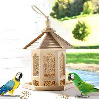 red de jaula de pajaros del alimentador de madera de la casa del pajaro para alimentar herramienta