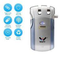 wafu wf-018 electric door lock wireless control with remote control open  close smart lock home security door easy installing