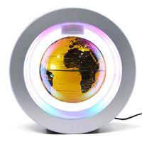 globo flotante con base multicolor led creativo 6 pulgadas levitacion magnetica antigravedad mapa del mundo giratorio para ninos regalo decoracion de escritorio de oficina en casa ensenanza demostracion