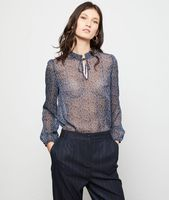 blusa efecto transparente - ditsy - 36 - azul - mujer - etam