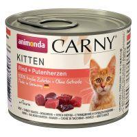 animonda carny kitten saver pack 12 x 200g - beef veal  chicken
