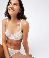 sujetador sin relleno de encaje copa b-e - panama - 85e - ecru - mujer - etam