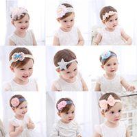 princess baby headband newborn knitted hair bands baby girl hair accessories tiara infantil lace flowers elastic bands headwear